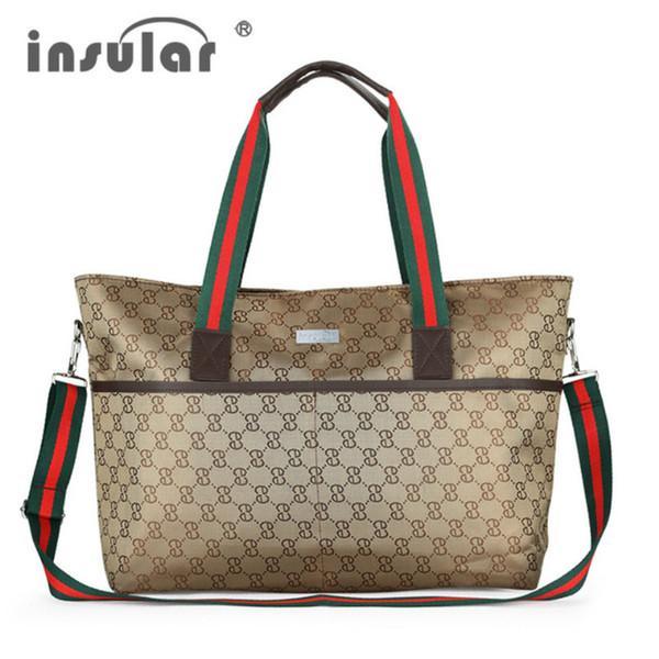 Mamá multifuncional bolsas de pañales de maternidad bolsos de pañales de bebé de gran capacidad bolsas de mensajero bolsa de cochecito bolsa informal C69