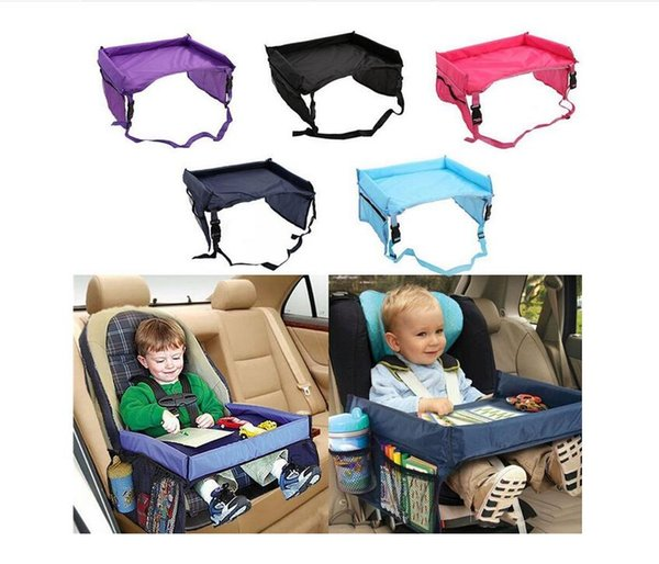 Waterproof Children Car safety seat tray Foldable Baby Cart Tables Seat Cover Pushchair seat belt travel tray 5 Colors DHL free