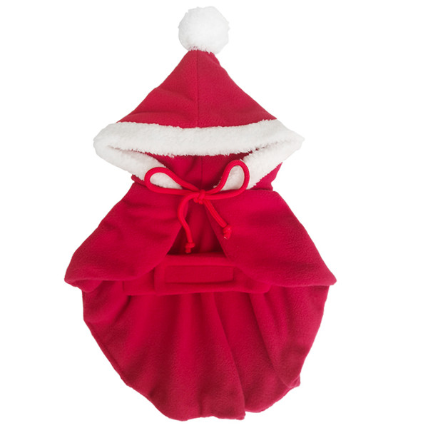 Christmas party clothes gift puppy costume dog Shawl Cloak cat Santa Claus clothes sweater with hat pet Accessories free shipping by DHL