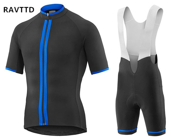 top popular New 2018 Cycling Jersey Short Sleeve and Cycling Bib Shorts Sets Bike Wear Clothes Clothing Maillot Ropa Ciclismo Mountain Bicycle Clothing 2019
