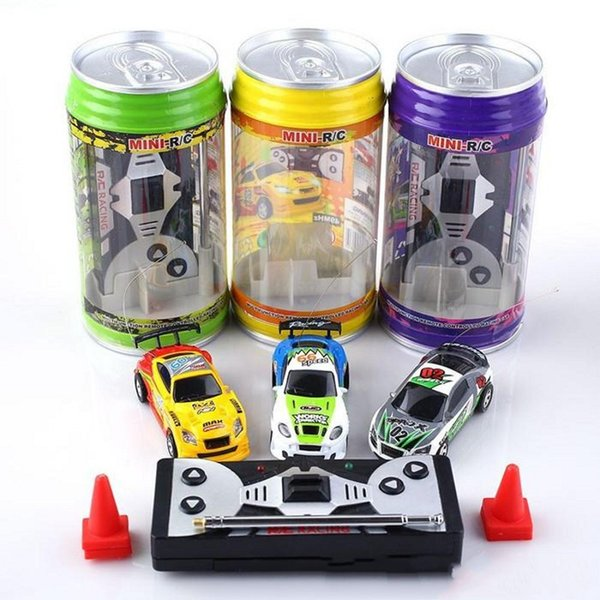 Kids Coke Can Mini-Racer Remote Control Car Mini RC Radio Remote Control Micro Racing 1:64 Car