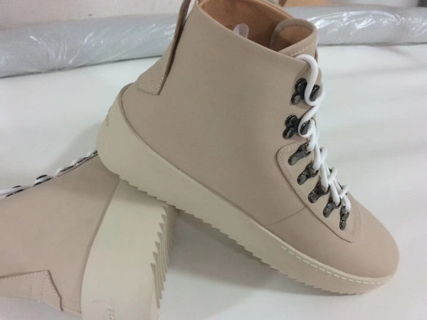 2018 new boots Fear of God Top Military Sneakers Hight Army Boots Men and Women Fashion Shoes Martin Boots 39-46