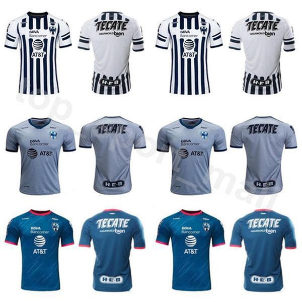 san francisco c2999 8a6a2 2018 18 19 Season CF Rayados Monterrey Jersey Men Soccer 8 PABON 18 HURTADO  7 FUNES MORI 13 SANCHEZ Football Shirt Kits White Grey From ...