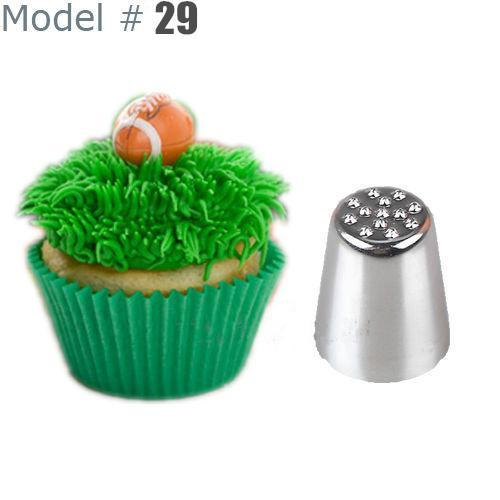 Wholesale- 2015 Hot Fashion Grass Hair Icing Piping Nozzle Cupcake Decorating Tip Mould #29