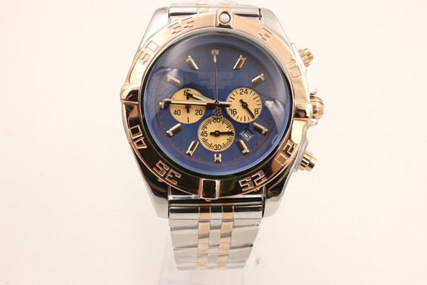 Caliber 01 professional blue ocean sea sneak fashion room gold 1884 pilot big super wrist watch blue personality surface