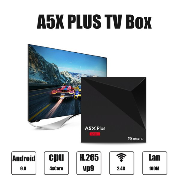 Smart TV Box Android 9.0 RK3328 Quad Core 2GB/16GB Mini PC 2.4G Wifi 4K 3D Media Player Home Movie A5X Plus