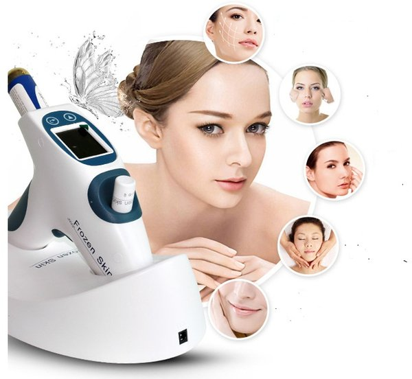 2018 New arrival !!! Home cool face Co2 carboxytherapy lifting Wrinkle Removal face freezing mesotherapy Gun Anti Aging Skin Care Machine