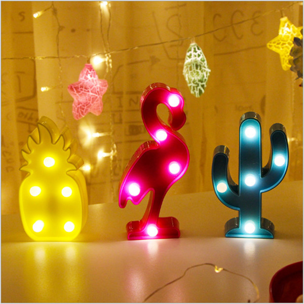 Cute Unicorn Head Mini LED Night Light Animal Plant Shaped Lamps On Wall For Children Party Bedroom Christmas Decor Kids Gifts