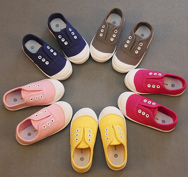 Designer New Brand Spring Kids Canvas Shoes Toddler Boys Girls Canvas Sneakers Children Canvas Shoes Girls Flats Slip on Casual Shoes