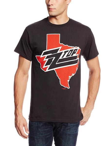 T Shirt Personnalise Zomer Men O-Neck Short-Sleeve Zz Top Texas Logo S M L Xl 2Xl-4Xl T Shirts
