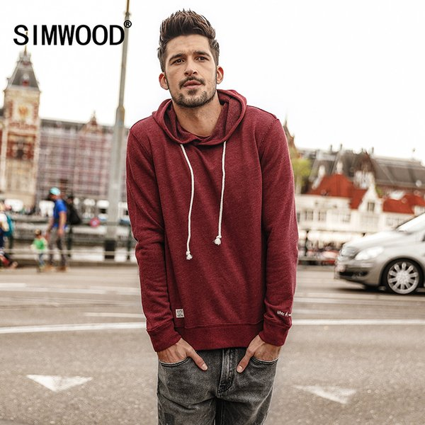 SIMWOOD 2018 Männer Hoodies Neue Herbst Mode sweatshirt Männlichen Casual moletom masculino Slim Fit Plus Size Trainingsanzug WT017002Y1882203