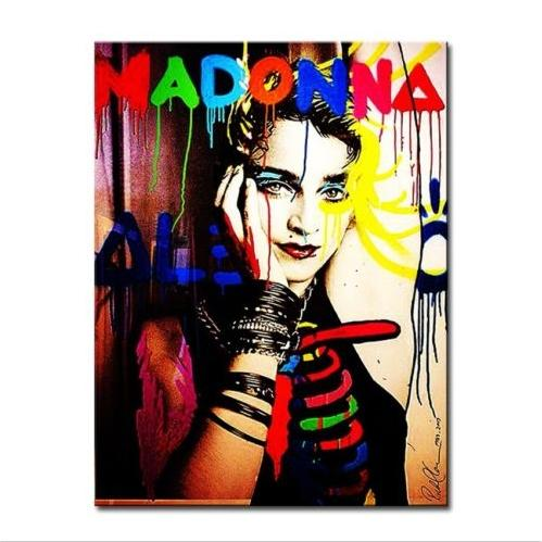 Alec Monopoly Oil Painting on Canvas Graffiti Wall Decor Handpainted & HD Print Madonna Multi Sizes g116