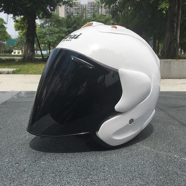 2017 ARAI Doppelgebrauchs-Schädel-Motorrad-Sturzhelm Capacete Casco Neuheit Retro Casque Motorrad-halbe Gesichts-Sturzhelm geben Verschiffen frei Y