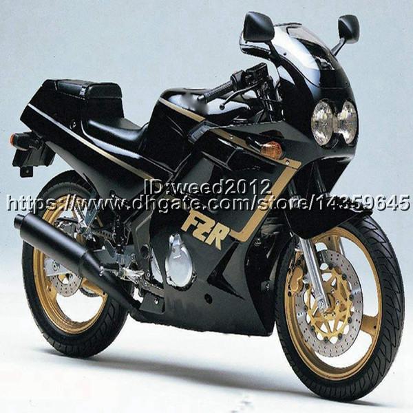 23colors+5Gifts black motorcycle hull for Yamaha FZR250 86-89 year FZR 250 1986 1987 1988 1989 Fairing