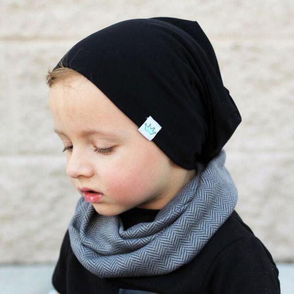 Solid Infant Baby Winter Hat Bonnet Warm Kids Baby Boy Girl Infant Cotton Soft Warm Hat Beanie Spring Autumn