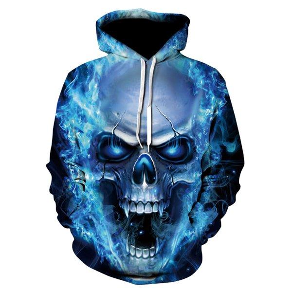 3D Skull 2018 Hoodies Men's / Women's Sweatshirts Hoodie 3d Clothing Cap Hoodie Print Paisley Nebula Jacket