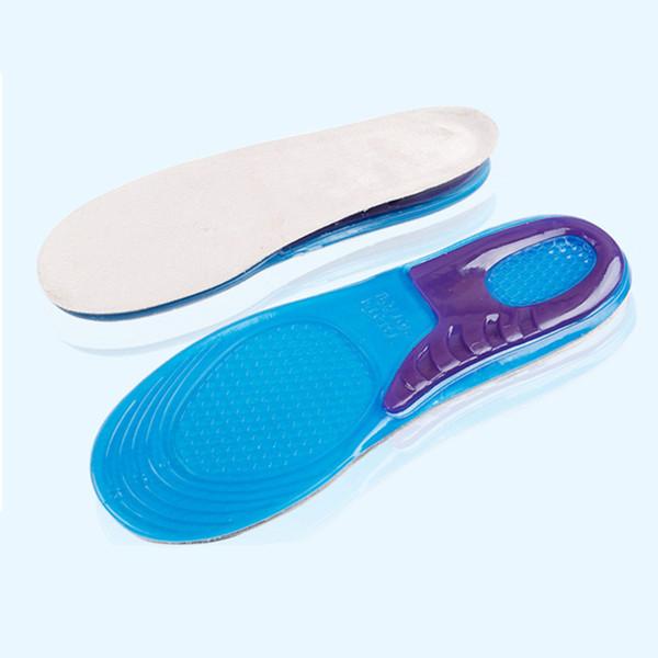JEL şok emici ayakkabı pad son derece elastik spor tabanlık silikon yumuşak kalınlaşmak pedleri Erkekler ve Kadınlar astarı Toptan