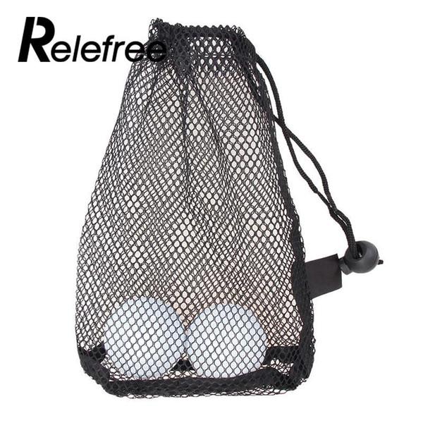 1 pcs Golf Sports Mesh Net Bag Golf Tennis 12/25/50 Balls Holder Drawstring Storage Pouch Accessories