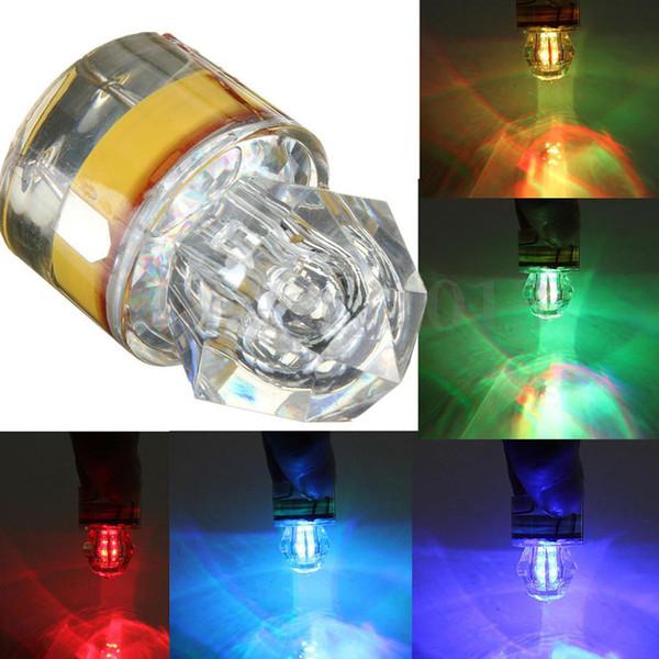 5pcs/lot Mini Underwater Outdoor Colorful Fishing Lights LED Flashing Lure Light Bait Diamond LED Fishing Lights Underwater