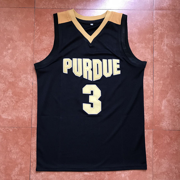# 3 Carsen Edwards Purdue College Classique Jersey de basketball Points de broderie pour hommes Personnalisez tous les maillots de numéro et de nom