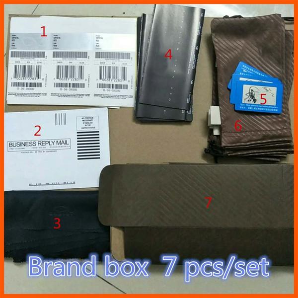 best selling ordinary box Classic glasses brand fashion sunglasses brown boxing original box Kraft paper packing box wholesale free shipping