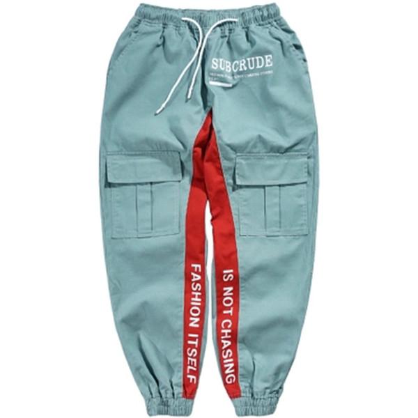 Hip Hop Harem Track Trousers Man Cool Cargo Pants Men Casual Hip Hop Fashion Street Style Pants Korean Fashion Clothing For Men