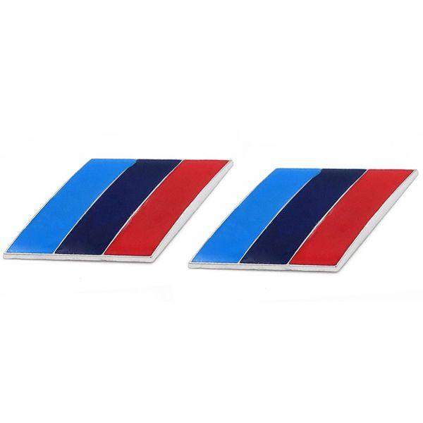 2Pcs/Pair 3D Metal Tricolor Car Body Side Fender Rear Trunk Emblem Badge for ALL Models BMW X1 X3 X5 X6 1 3 5 6 7 Series