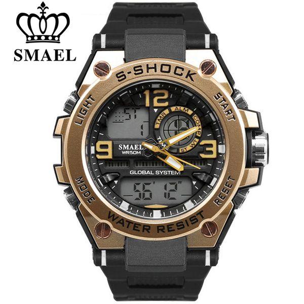 SMAEL 2018 Watch Men Fashion Waterproof Watch Analog LED Sports Digital Quartz Wristwatch Man Watches Top Brand Reloj Mujer Clock