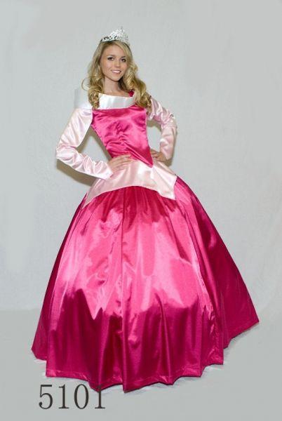 ENVÍO GRATIS Señoras Rosa Princesa Aroura Bella Durmiente Disfraz Traje Aro Adulto