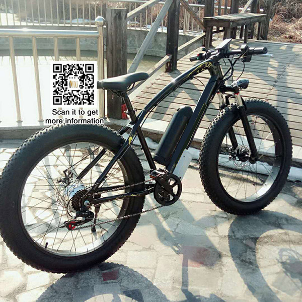 26 inch fat bike 21 speed Mountain EBike Road Electric Bicycle 36V 10.4AH fat tire, snow bike