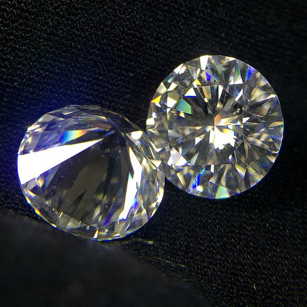 Corte brillante redondo 1.0ct quilates 6.5mm F Color Moissanite Piedra suelta VVS1 Excelente prueba de corte Prueba de laboratorio positivo Diamante
