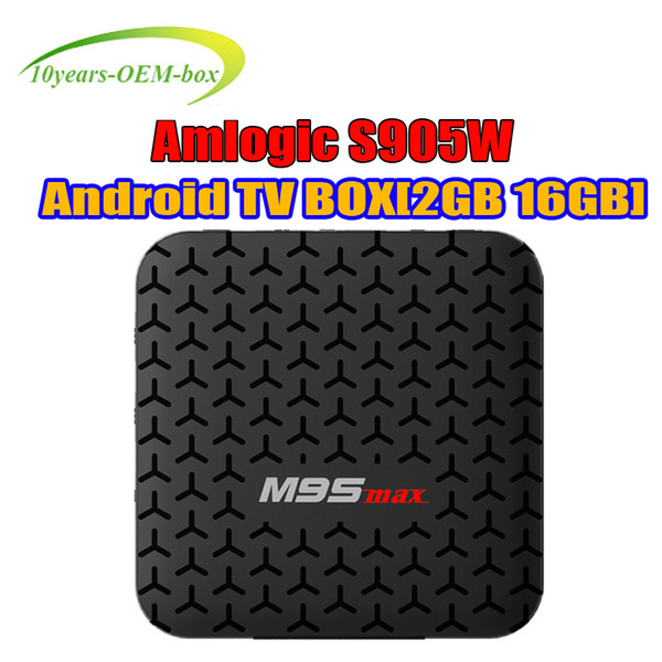 Best M9S MAX TV BOX 2GB 16GB Quad Core Amlogic S905W Smart Box Android 7.1 TV Streaming Boxes 4K Media Player Better TX3 X96 S905W