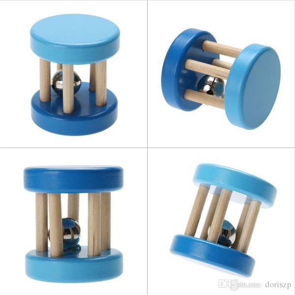 Lustige Holz Baby Kind Kinder Spielzeug intellektuelle Entwicklung pädagogische Holzspielzeug Spirale Rasseln für Babys Brinquedos