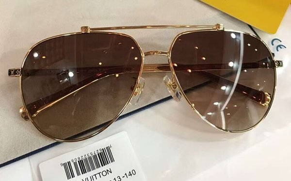 Gold/Brown Pilot Sunglasses Sonnenbrille des lunettes de soleil Luxury Designer Sunglasses for men Glasses New with box