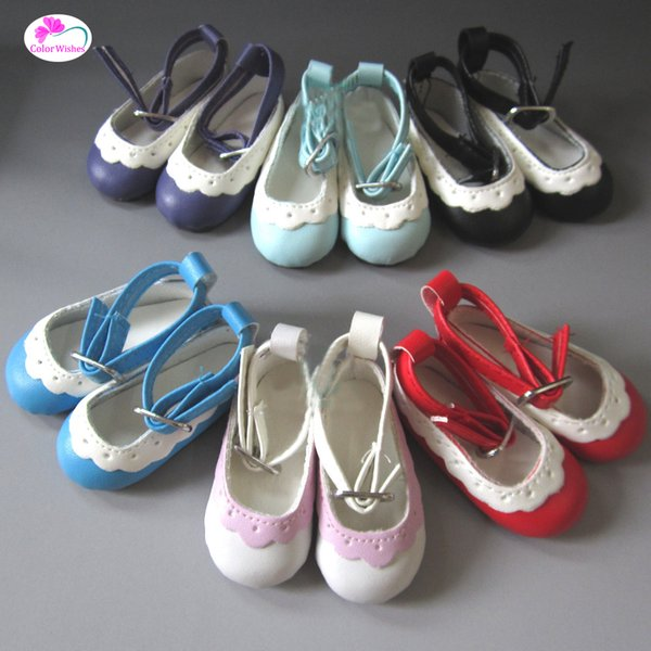 Mini doll Shoes ulticolor 6.5cm leather shoes For dolls 1/4 bjd Doll and 16 Inch Sharon Accessories
