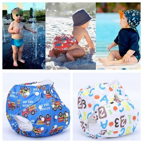 Unisex One Size Waterproof Adjustable Swim Diaper Pool Pant Swim Diaper Baby Reusable Washable Pool Diaper 21 Color