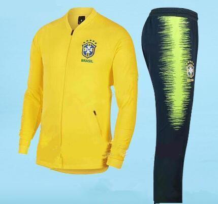 ca703c6a7935d futebol conjunto casaco terno casaco de treino 18 World Cup Brasileiros  casaco agasalho chandal set