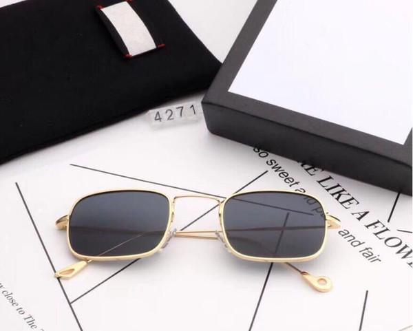 Gafas de sol de moda 4271 para Mujeres Hombres Conductor Gafas de sol de viaje al aire libre con caja de venta al por menor 7 colores bueno