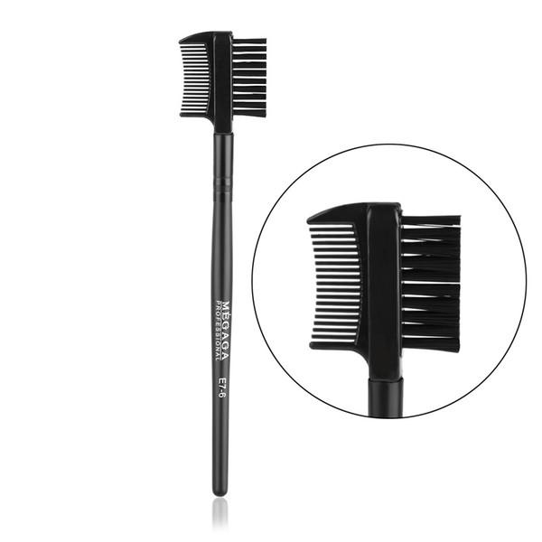 Yeni Sıcak Moda Güzellik Siyah Çift Amaçlı Kirpik Kaş 2 in1 Fırça Tarak Makyaj Aracı Kozmetik