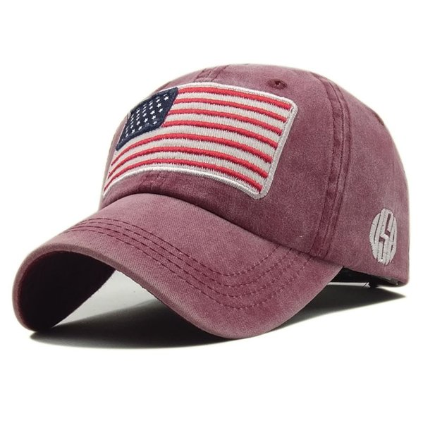 Retro Baseball Caps For Men And Women Letter Casquette Embroidery United States National Flag Sun Hats Portable 12wk BB