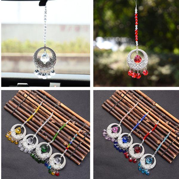 8PCS 20mm Crystal Ball Suncatcher Prism Pendant Hanging Sun Catchers Window Decoration Rainbow Maker Car Charms