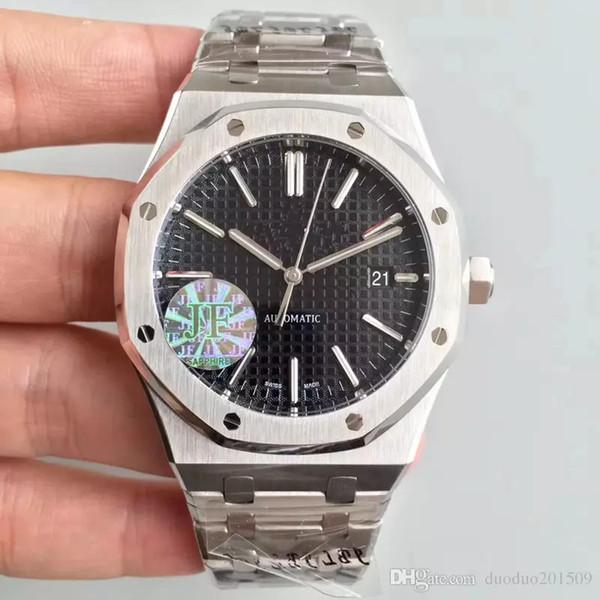 Nuevo reloj para la moda Correa de acero inoxidable Relojes automáticos para hombres Reloj de pulsera de la marca suiza Sapphire Sport Glass Back