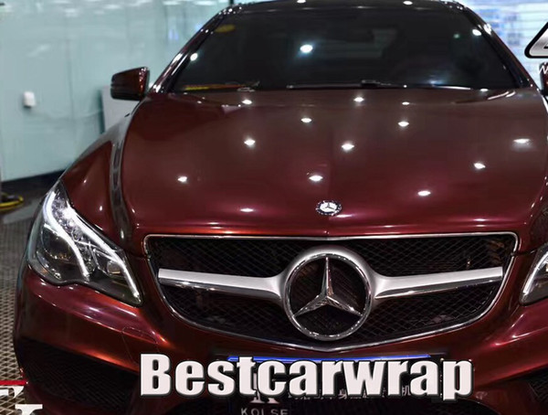 Rose Black Cherry Gloss metallic Vinyl Wrap For Car Wrap Film With Air bubble free car sticker covering film Size:1.52*20m( 5x67ft)