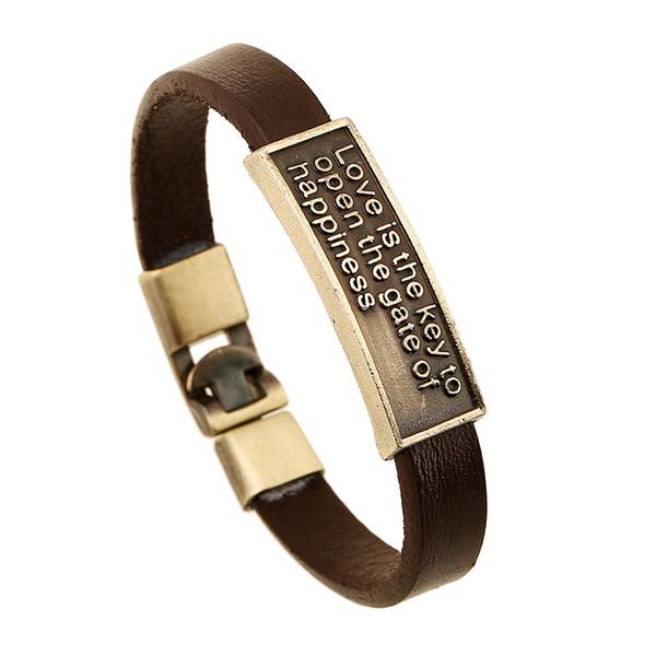 Fashion Charm Cuff Bracelet Men Casual Leather Bracelets For Women Bracelet Punk Rock Men Jewelry Free Shipping