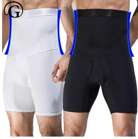 0fd92b2d7e PRAYGER Men High Waist Big Belly Control Panties Tummy Trimmer Corset Hold  Stomach Body Shaper boyshort