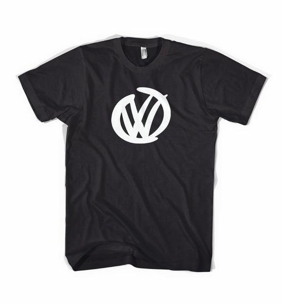 BLACK T-SHIRT WITH WHITE VW Logo - Golf Camper Polo GTI Beetle T5 T4 2018 New Fashion T shirt Brand Hip Hop Print Men Tee