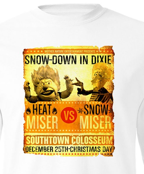 Christmas In Dixie Shirt.Heat Miser Vs Snow Miser T Shirt Long Sleeve Rudolph Santa Claus Christmas Tee Best Tee Shirts T Shirts Cheap From Banwanyue8 15 73 Dhgate Com