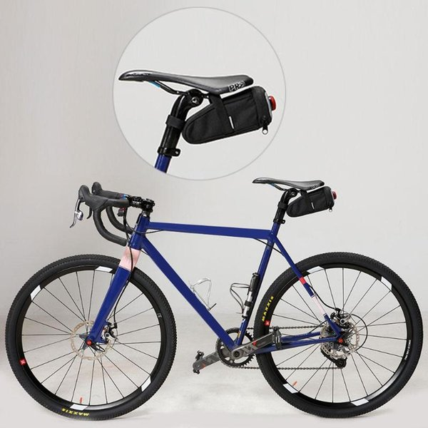 New Bicycle Bag with Tail Lamp Waterproof Storage Saddle Bag Seat Cycling Tail Rear Pouch Bike Saddle Bicicleta accessories