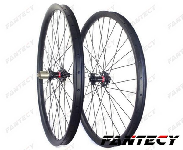 29er tubeless mountain bike carbon wheels 40mm width 30mm depth MTB DH carbon wheelset with novatec 791/792 hub
