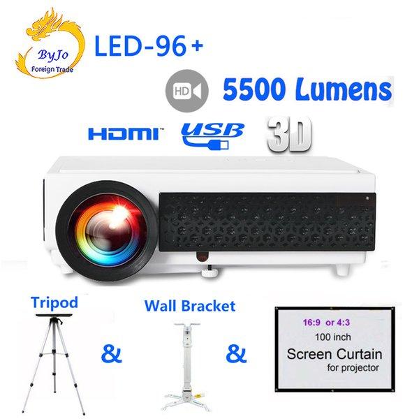 Nuovo proiettore LED96 + LED 1080P 5500lumens video HDMI USB 1280x800 Full HD Proiettore Home Theater Proiettore Proiettore 3D